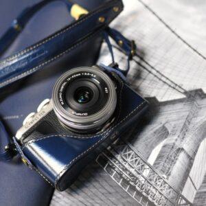 Olympus E-PL7 相機皮套 Leather case オリンパスE-PL7 カメラケース by KAZA