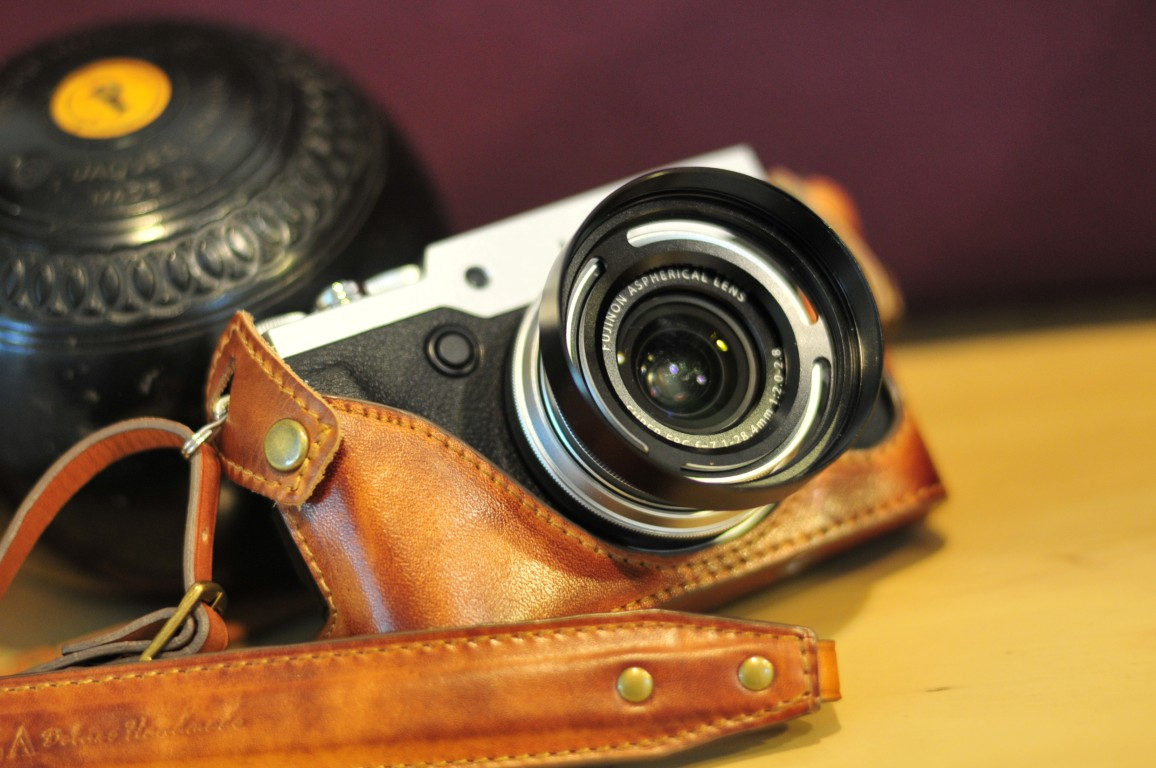 Half case Leather case 富士 X30 用カメラケース Fujifilm X30 相機皮套 by KAZA