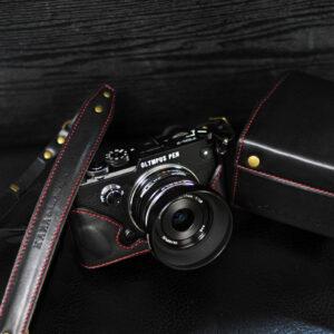Olympus PEN-F 相機皮套 Leather case オリンパス PEN-F カメラケース by KAZA