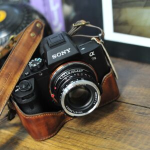 SONY A7 markII 相機皮套 Leather half case / case set ソニー A7 markII 用カメラケース by KAZA
