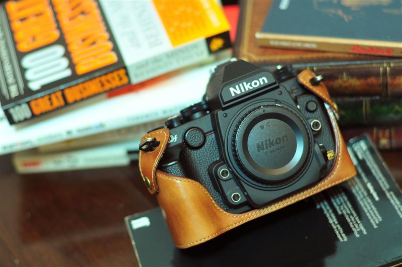 Nikon DF 相機皮套 Leather half case ニコン DF 用カメラケース by KAZA