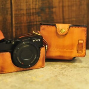 SONY RX100 相機皮套 Leather half case / case set ソニー rx100 用カメラケース by KAZA