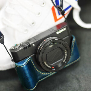 SONY RX100 M3 / M4 相機皮套 Leather half case / case set ソニー RX100 M3 / M4 用カメラケース by KAZA