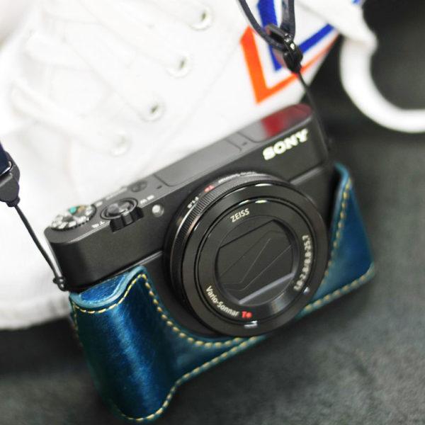 SONY RX100 M3 / M4 相機皮套 Leather half case / case set ソニー RX100 M3 / M4 用カメラケース by KAZA