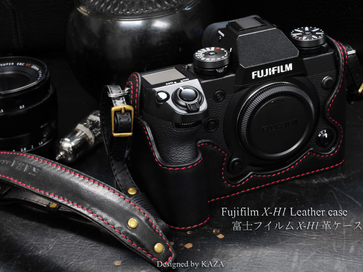 X-H1 leather half case, camera case