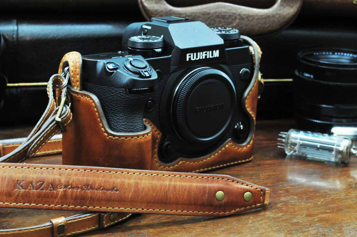 X-H1 leather half case, camera case