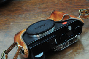 leica CL leather case half case カメラケース 相機皮套