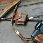xt100 x-t100 leather half case カメラケース