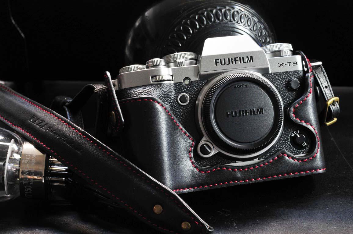 XT3 leather half case,X-T3 leather half case,XT3 相機皮套,XT3 革のケース