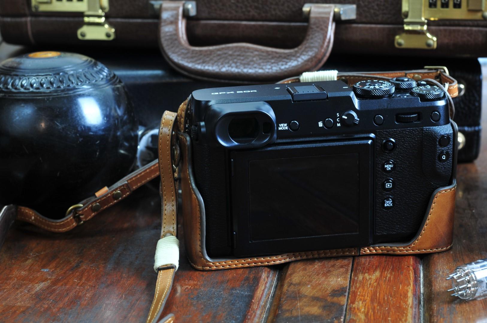 GFX50R leather half case, GFX50R half case