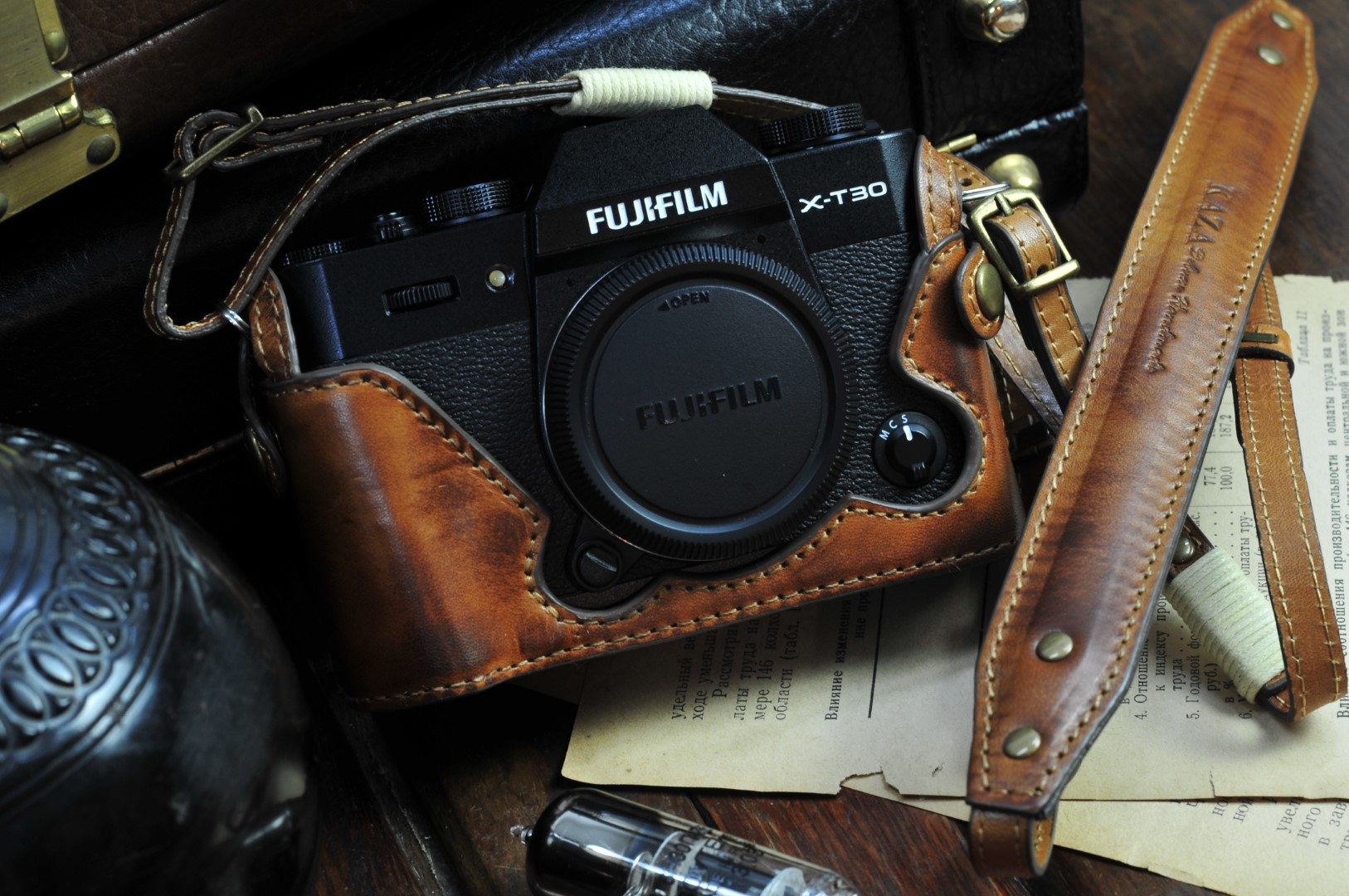 X-T30 leather half case, X-T30 half case, Xt30 camera case