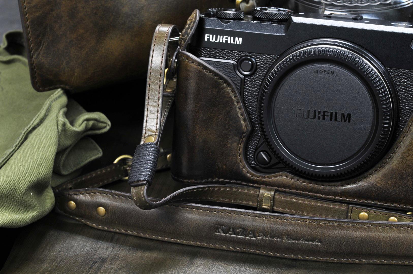 GFX50r leather half case,GFX50R leather half case,gfx50r 相機皮套,gfx50r 革のケース