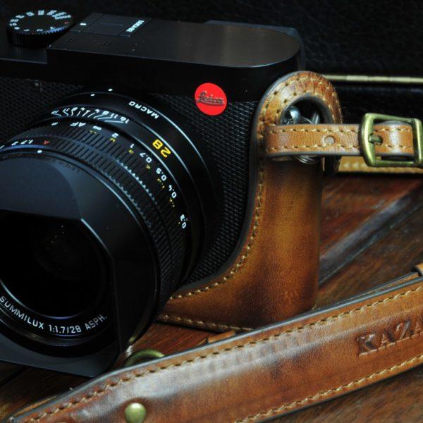 Leica Q2 leather camera case