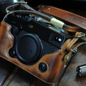 Xpro3 leather case, xpro3 half case, xpro3 camera case