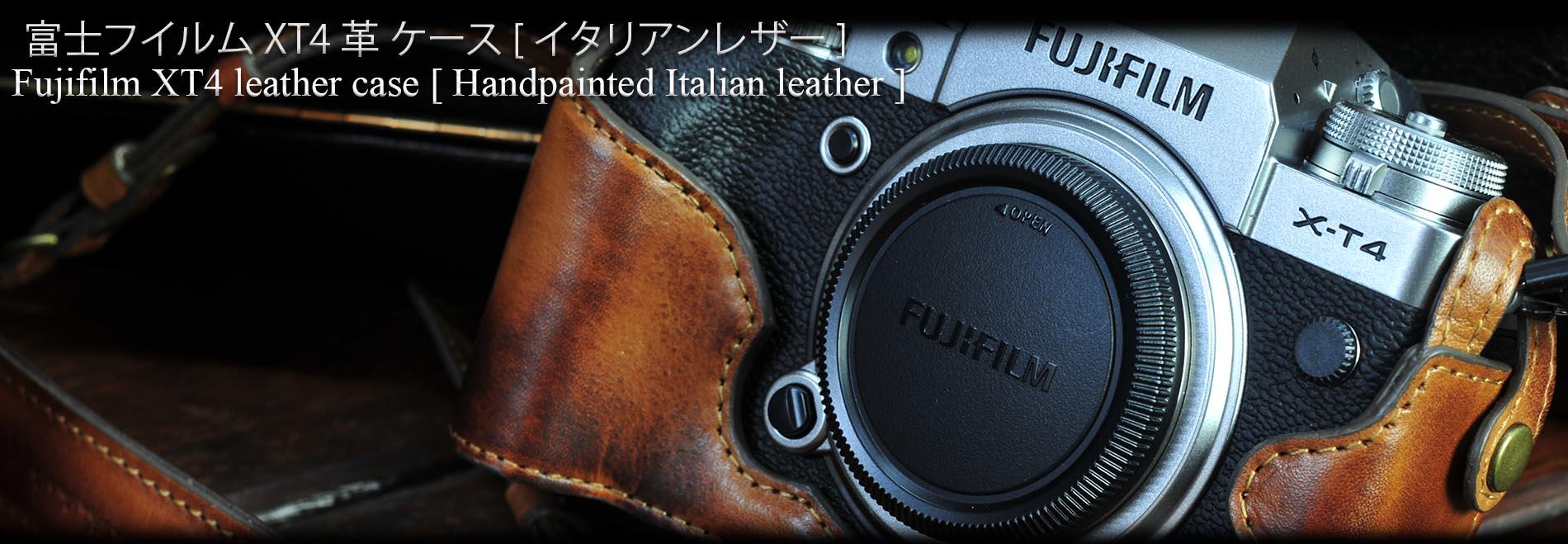 Fujifilm x-t4相機皮套, x-t4 leather case, fujifilm xt4カメラケース, フジフィルムxt4ボディケース, x-t4 half case,